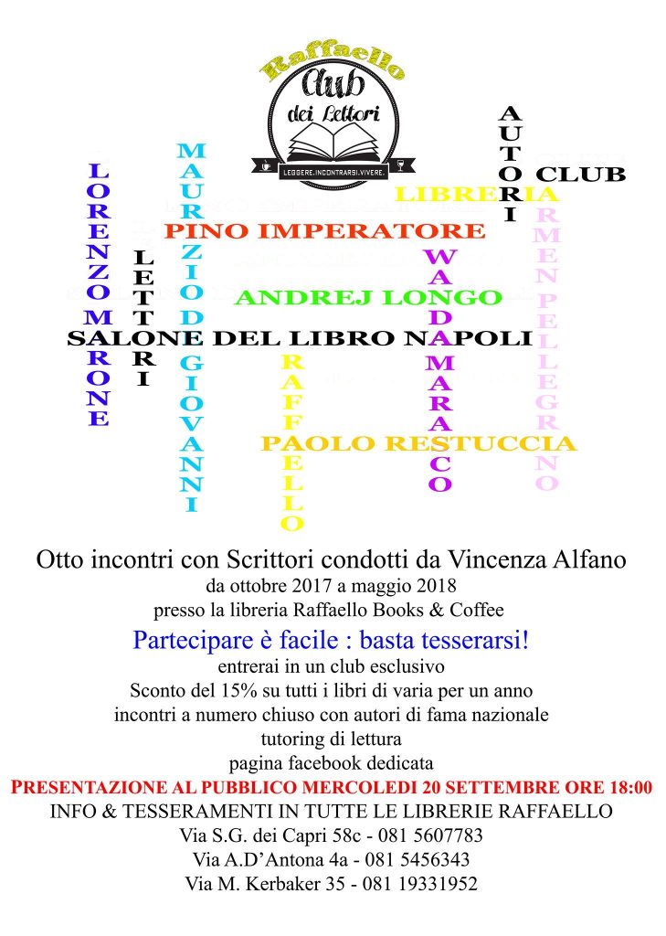 """Alla libreria Raffaello del Vomero apre """"Il Club dei Lettori"""""""
