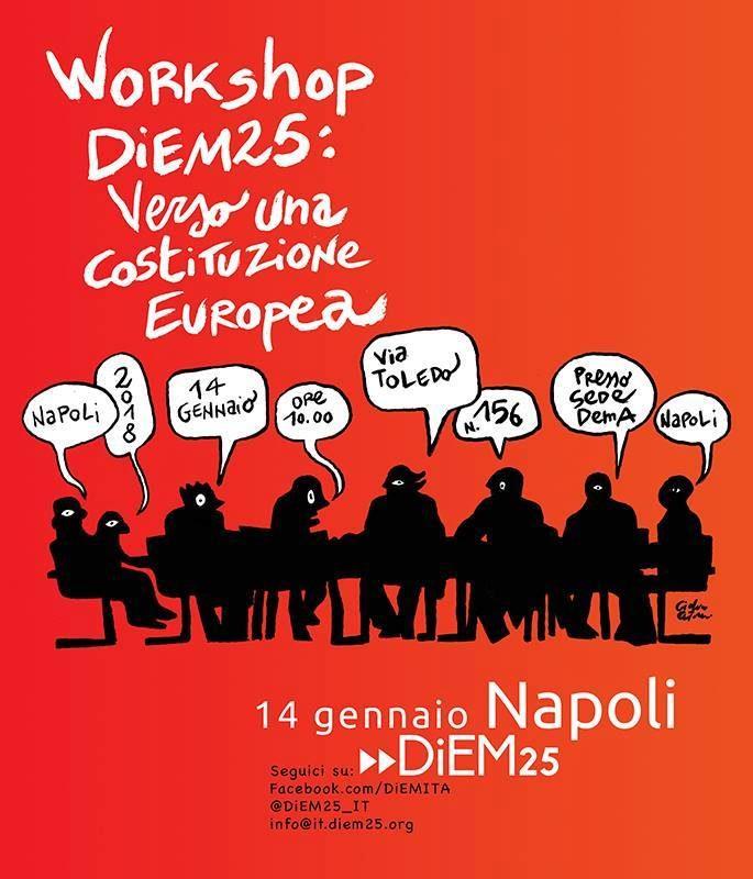 Workshop Diem25: Verso una nuova costituzione europea