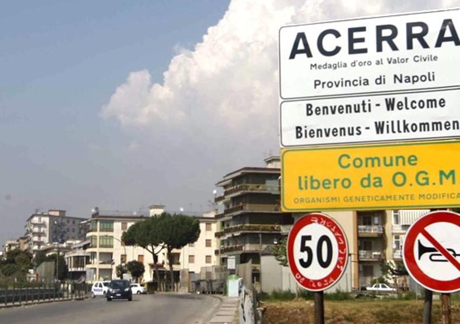 Protesta dei dipendenti della ex Montefibre di Acerra