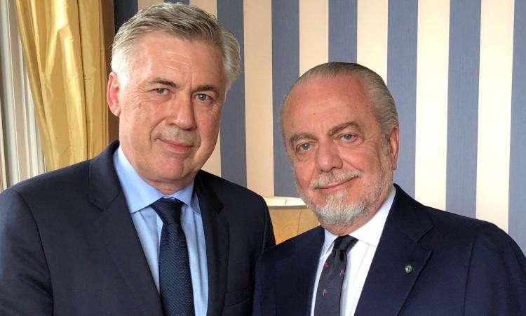 Napoli, gli auguri di De Laurentiis ad Ancelotti