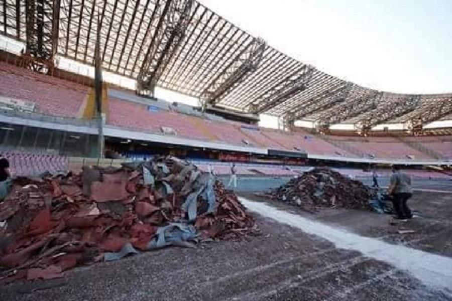 """Lavori al San Paolo in ritardo, il Napoli non si fida e """"prenota"""" Palermo"""