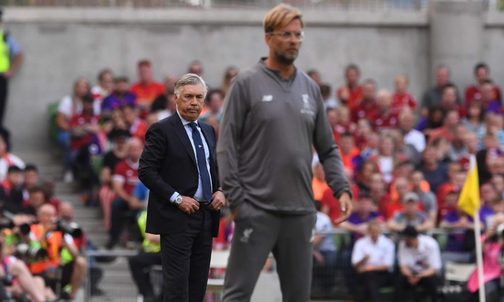 """Liverpool-Napoli, Ancelotti: """"Sconfitta che brucia, ma meglio adesso"""""""