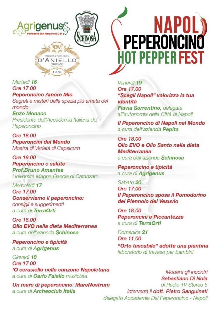 Napoli Peperoncino Fest, al via la prima edizione 15-21 ottobre 2018 (VIDEO SPOT)