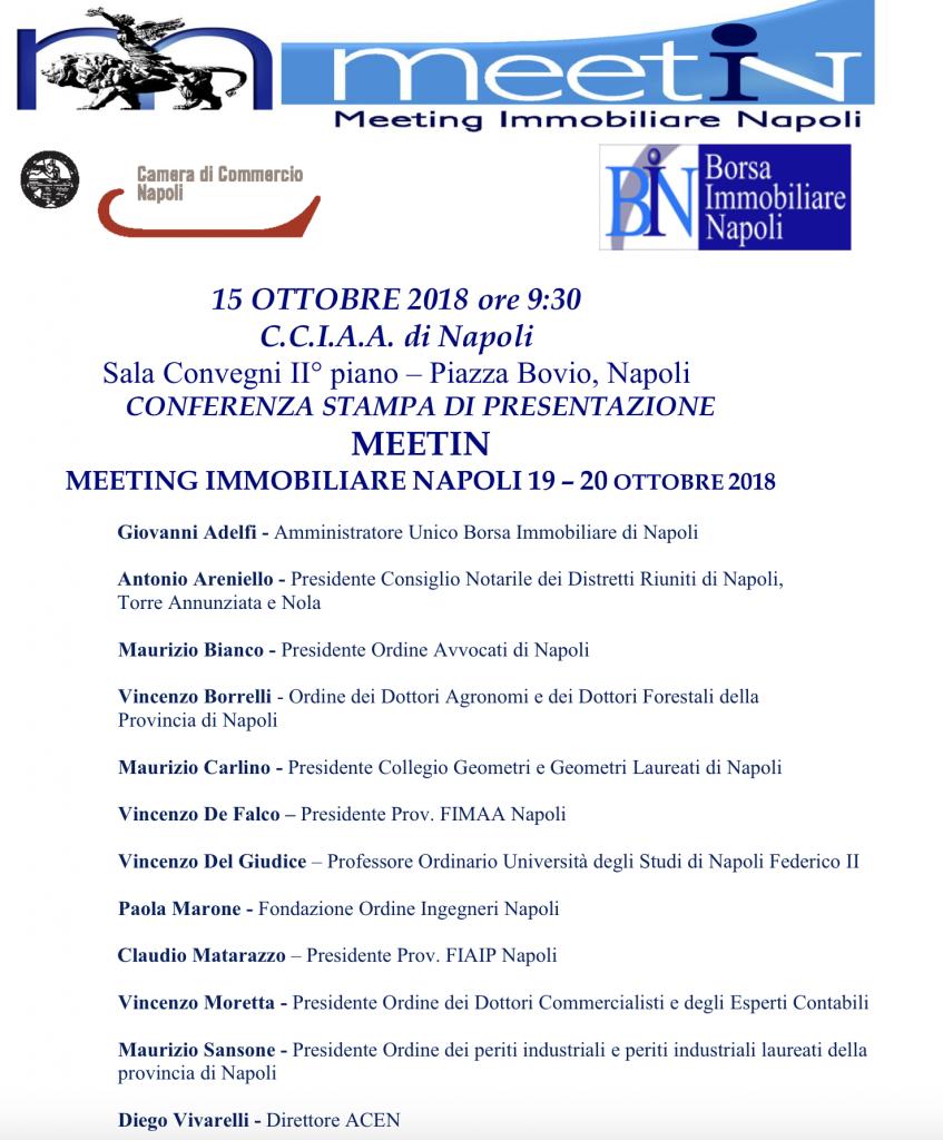MeetIn Immobiliare di Napoli, alla Camera di Commercio il grande evento del mondo del mattone
