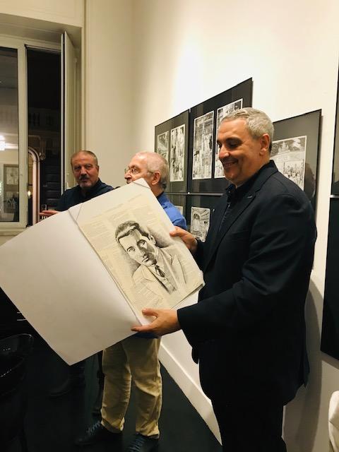 Il commissario Ricciardi a fumetti, le foto del Finissage della Mostra Il romanzo dipinto