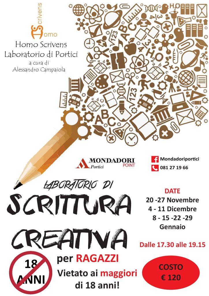 """Portici, Mondadori Point: prima lezione di """"Laboratorio di scrittura creativa"""" a cura di Alessandro Campaiola (Homo Scrivens)"""
