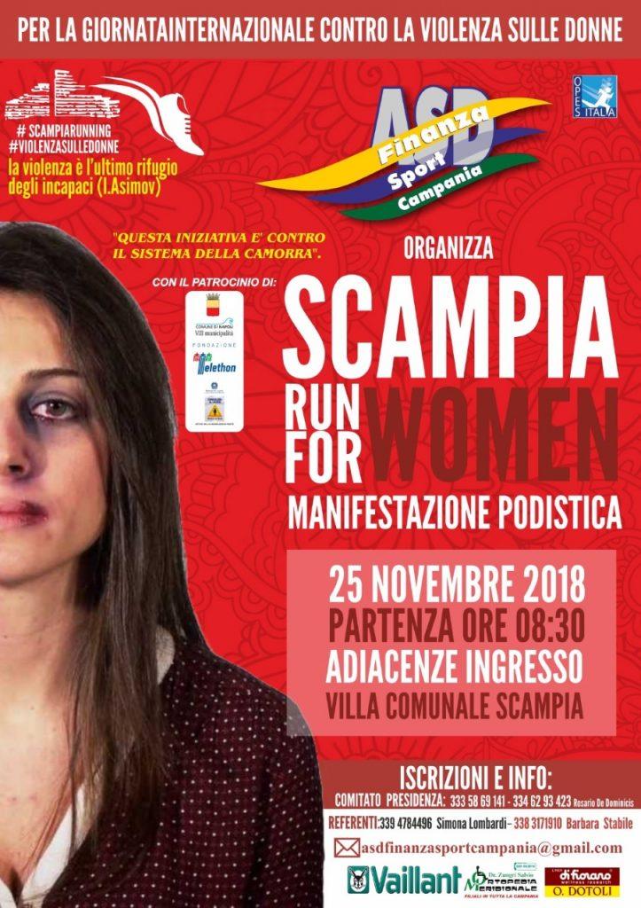 Scampia Run for Women domenica 25 novembre, manifestazione podistica contro la violenza sulle donne aperta a tutti