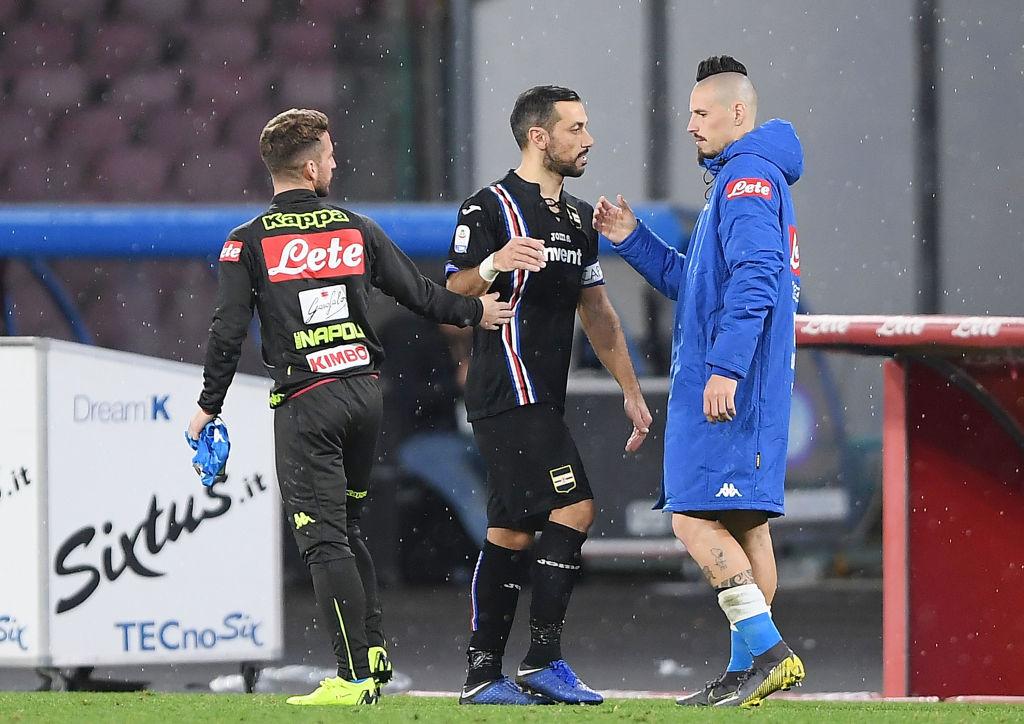 Napoli-Sampdoria 3-0: Milik, Insigne e Verdi per accorciare sulla Juve