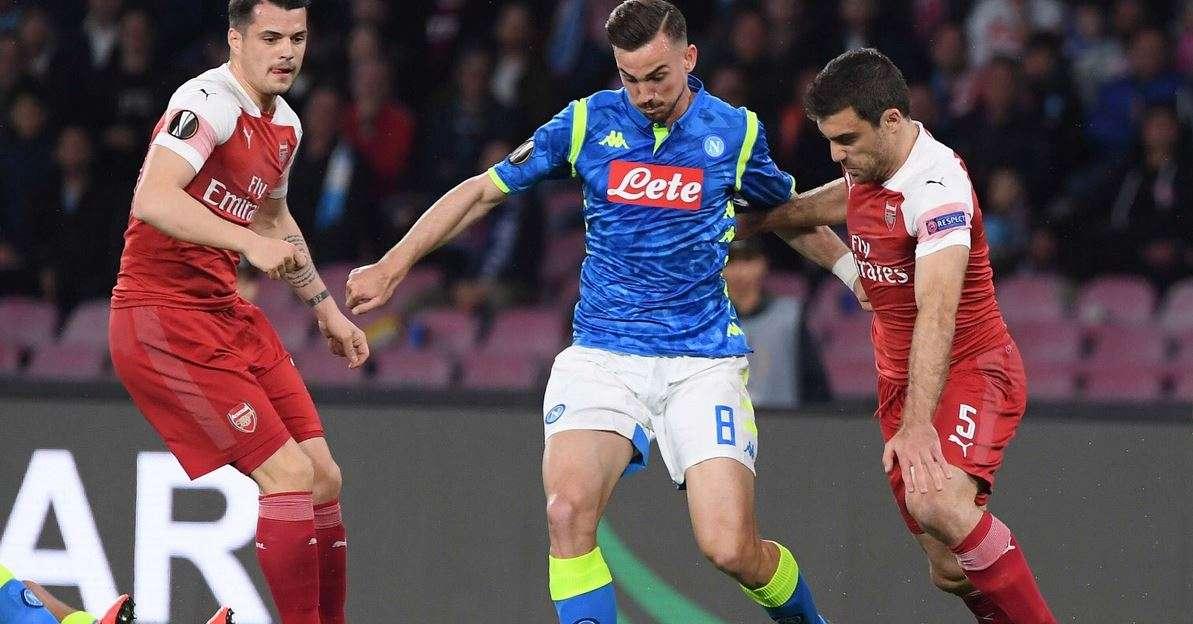 Napoli-Arsenal 0-1, Lacazette butta gli azzurri fuori dall'Europa League