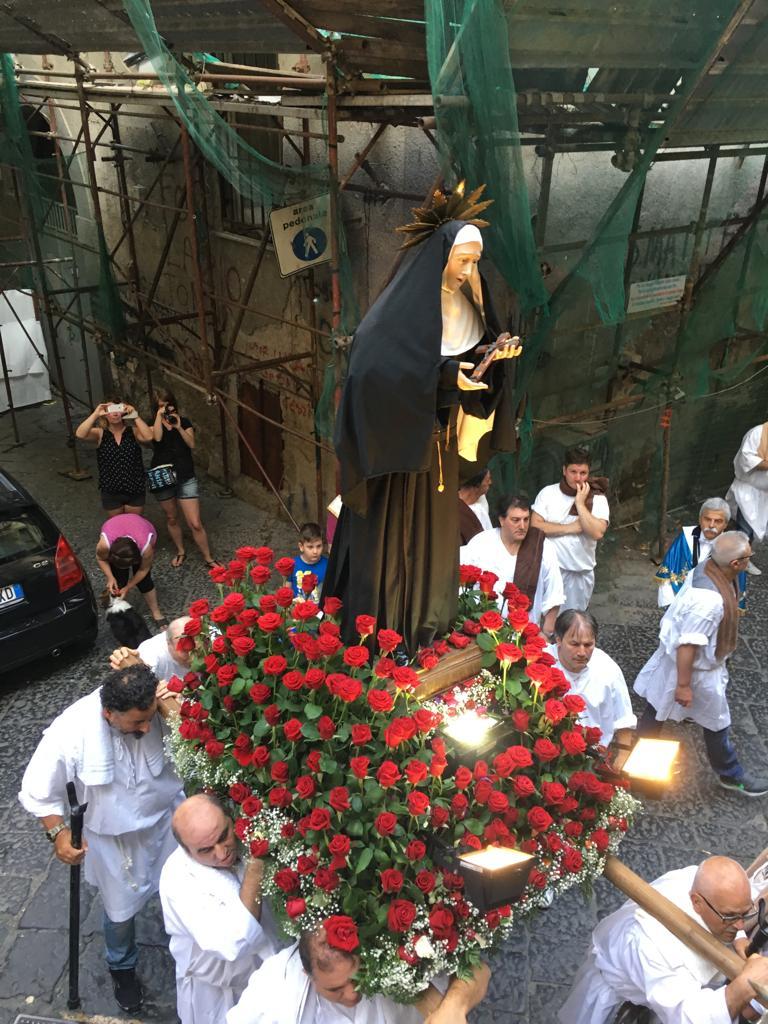 Santa Rita, compatrona di Napoli: domenica la Solenne Processione ai Quartieri Spagnoli