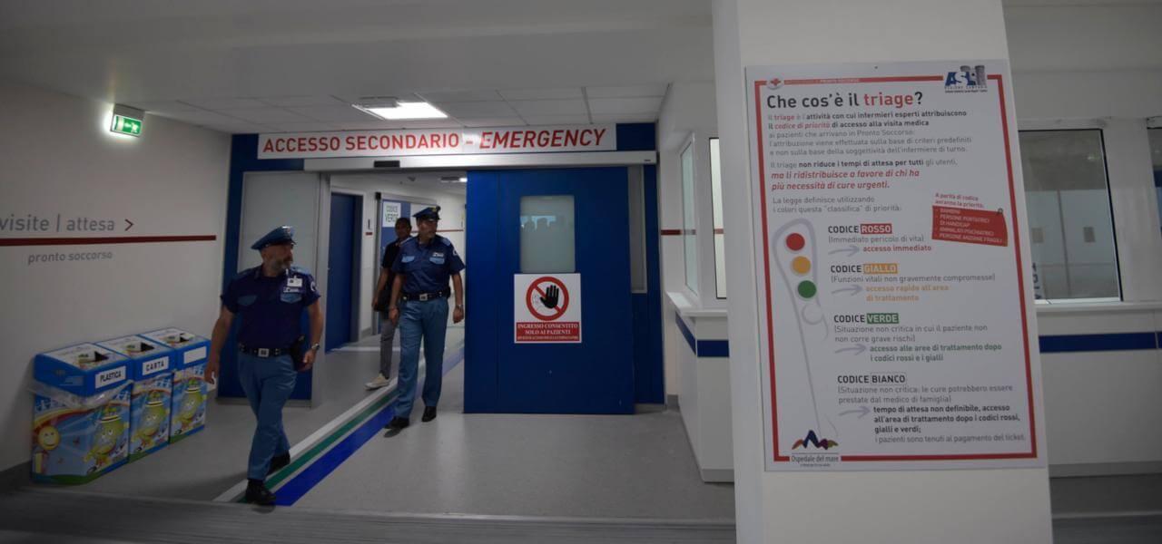 Agguato in ospedale: i carabinieri indagano attraverso il sistema di videosorveglianza