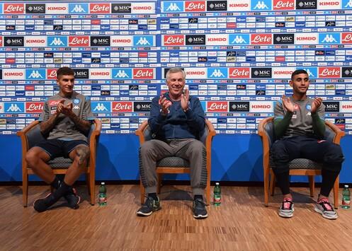 """Ancelotti: """"James? Speriamo arrivi. Insigne è il capitano e deve restare a Napoli"""""""