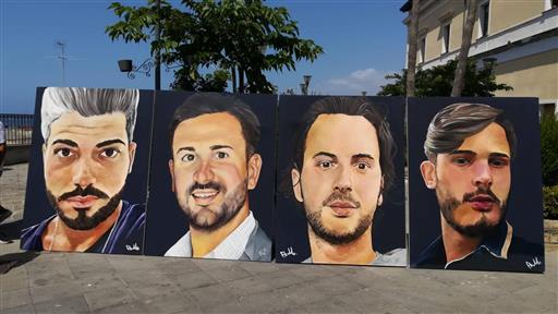 Ponte Morandi, a Torre del Greco un murale per le quattro vittime