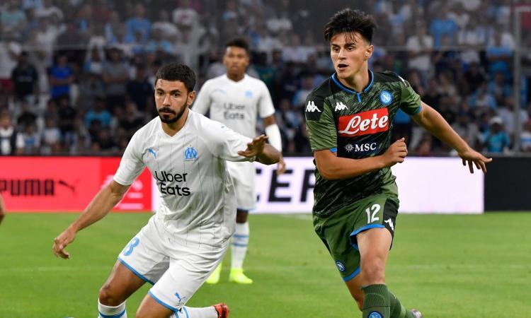 Marsiglia-Napoli 0-1: gran gol di Mertens, gli azzurri scoprono Elmas