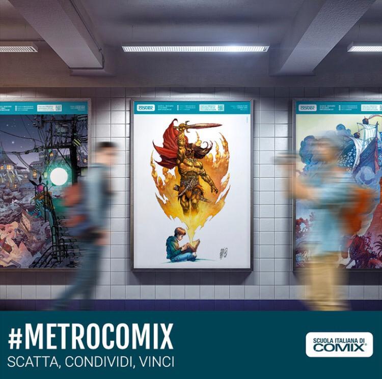 MetroComix - Dal 18 al 30 settembre la Mostra gratuita della Scuola Italiana di Comix nelle Stazioni dell'arte della Linea 1 della Metropolitana Di Napoli