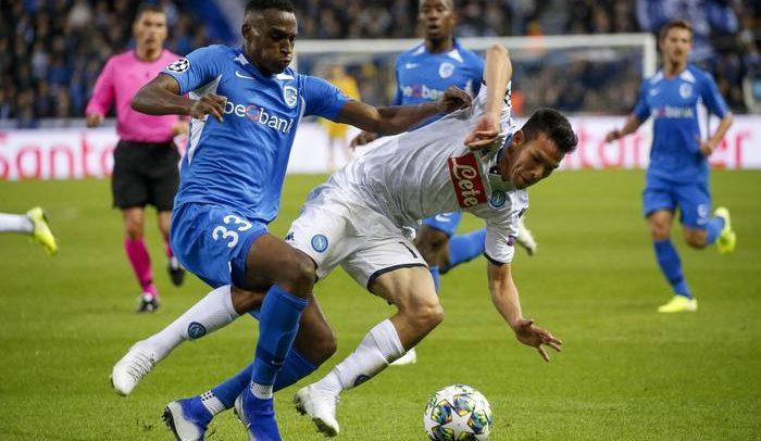 Il Napoli si ferma al palo e contro il Genk non va oltre lo 0-0