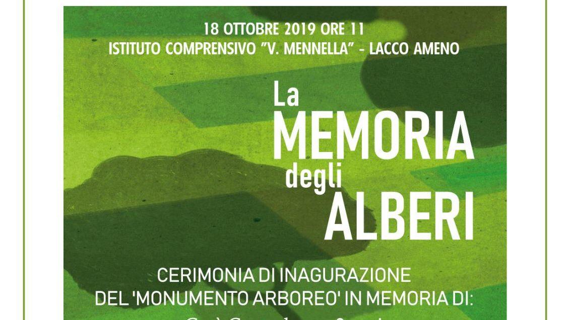 """La memoria degli alberi"", appuntamento a Ischia venerdì 18 ottobre"