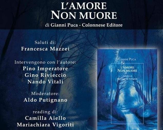 """""""L'Amore non muore"""", ad Aversa la presentazione del nuovo romanzo di Gianni Puca"""
