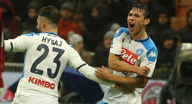 Milan-Napoli 1-1, Bonaventura risponde a Lozano: gli azzurri continuano a non vincere