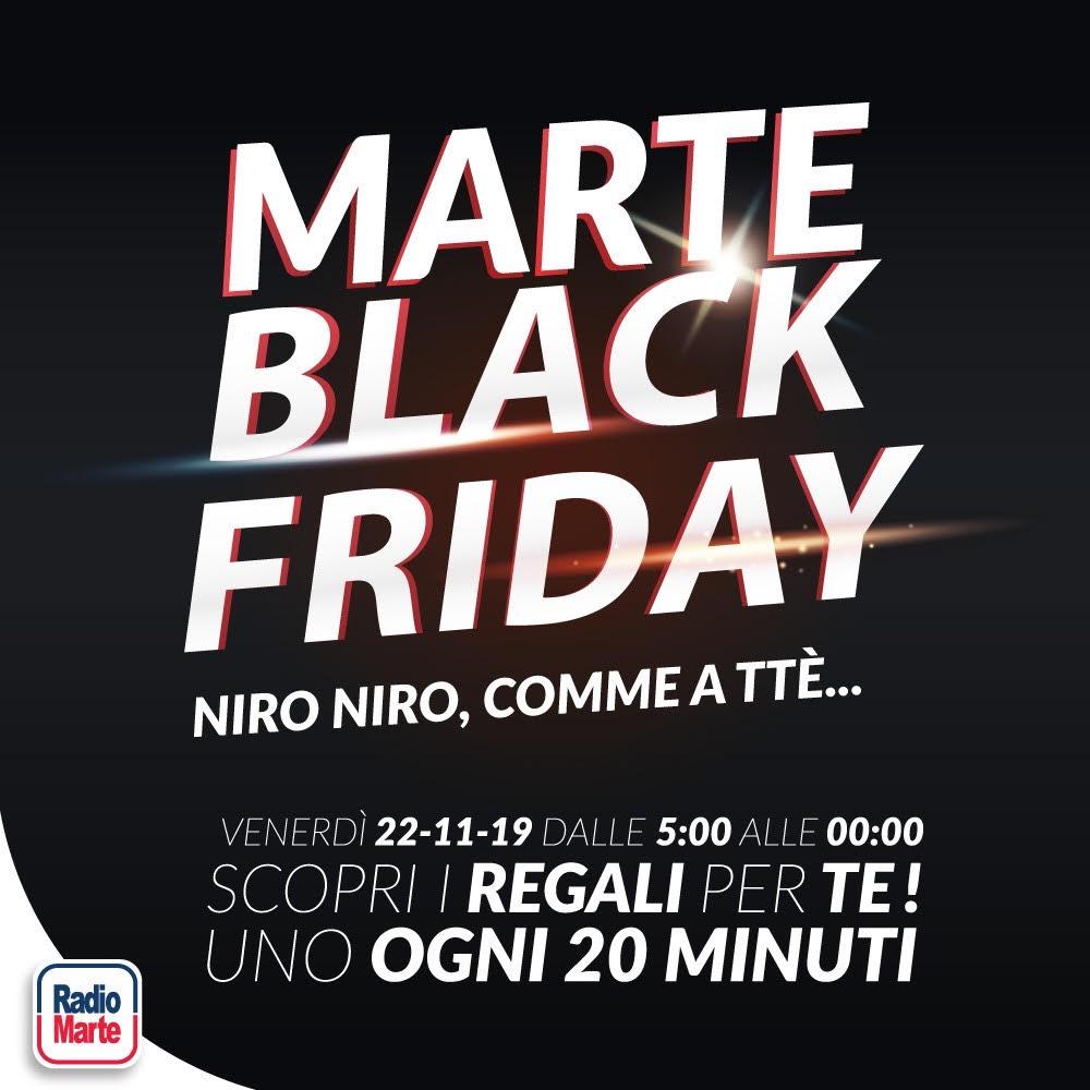 Black Friday anche a Radio Marte: regali non-stop agli ascoltatori