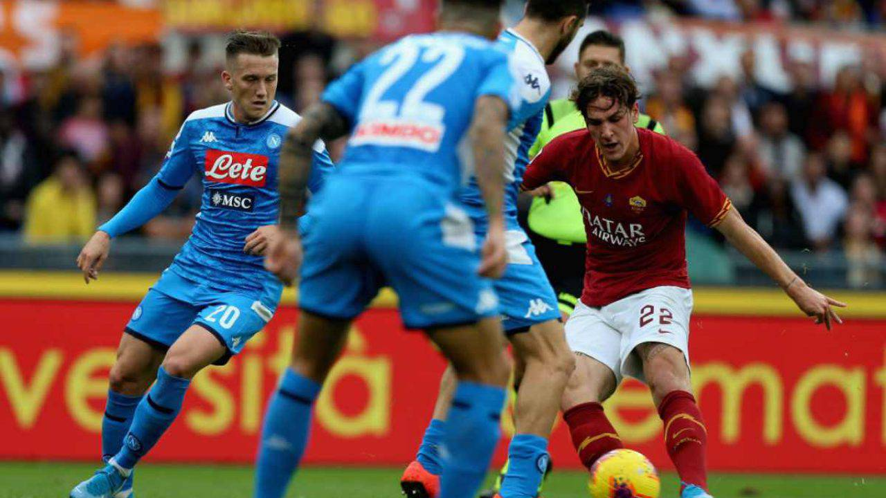 Roma-Napoli 2-1: Meret e Milik non bastano, azzurri sconfitti e settimi