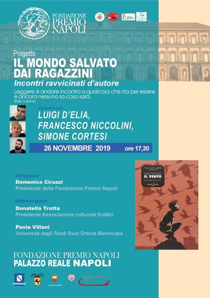 Fondazione Premio Napoli, l'incontro con Luigi D'Elia al Palazzo Reale