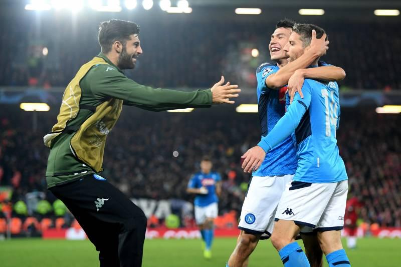 Liverpool-Napoli 1-1: Lovren risponde a Mertens, ma gli azzurri vedono gli Ottavi