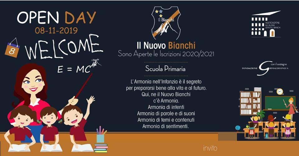 """Open-Day """"Il Nuovo Bianchi"""", venerdì 8 novembre porte aperte al territorio"""