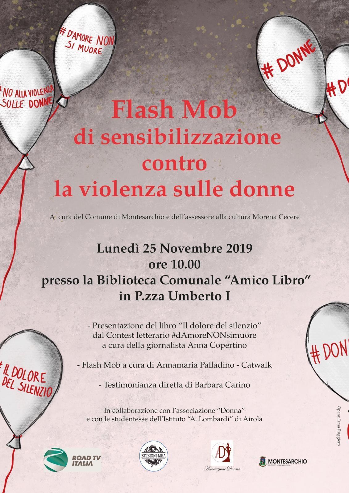 Montesarchio, il 25 novembre Flash Mob contro la violenza sulle donne
