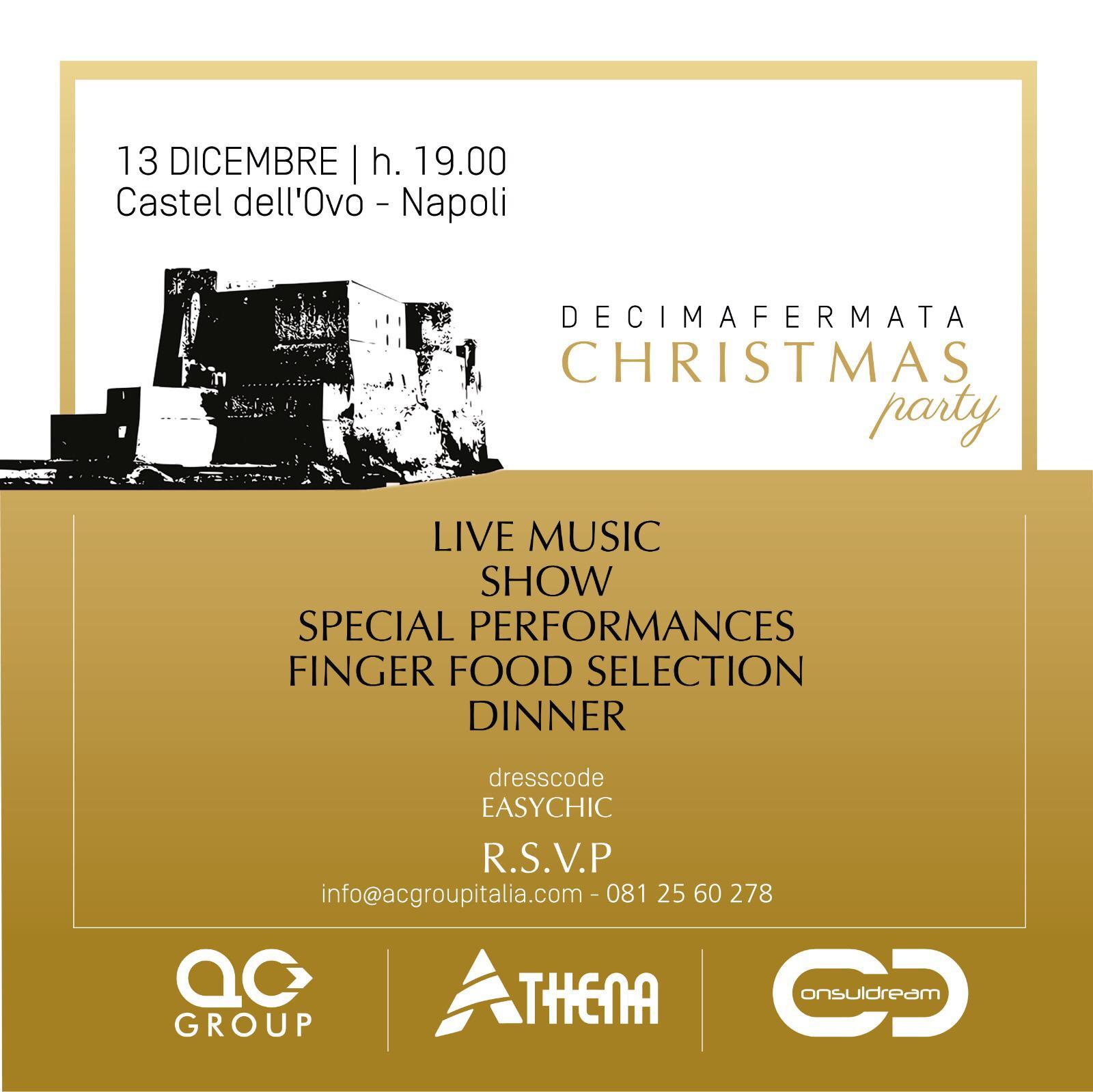 Gigi e Ross al Castel dell'Ovo per il Decimafermata Christmas Party