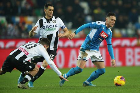 Udinese-Napoli 1-1, Zielinski risponde a Lasagna
