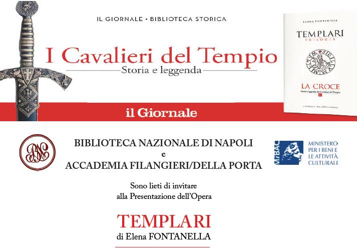 """""""Templari"""", il libro di Elena Fontanella presentato alla Biblioteca Nazionale di Napoli"""