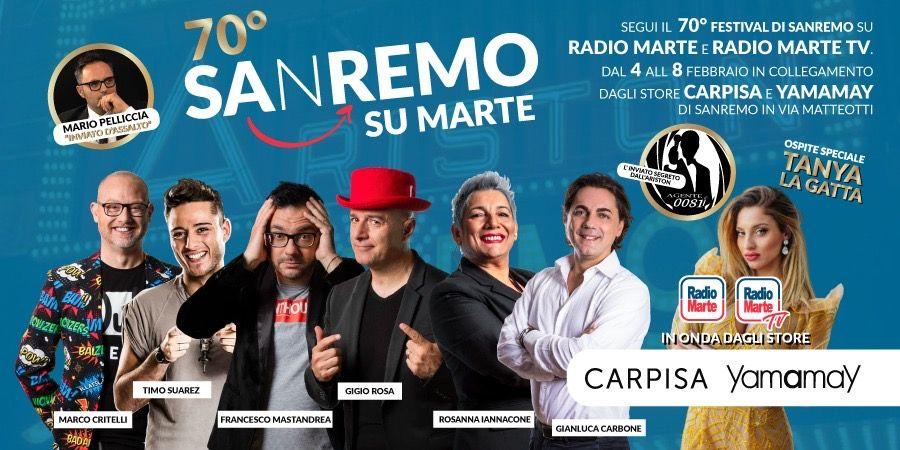 Festival di Sanremo, Radio Marte e Radio Marte TV in diretta dal 3 febbraio