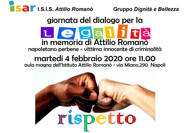 Il 4 febbraio la giornata del dialogo per la legalità in memoria di Attilio Romanò