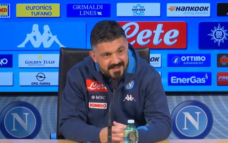 """Lazio-Napoli, Gattuso in conferenza: """"Ci serve serenità, ma stiamo migliorando"""""""
