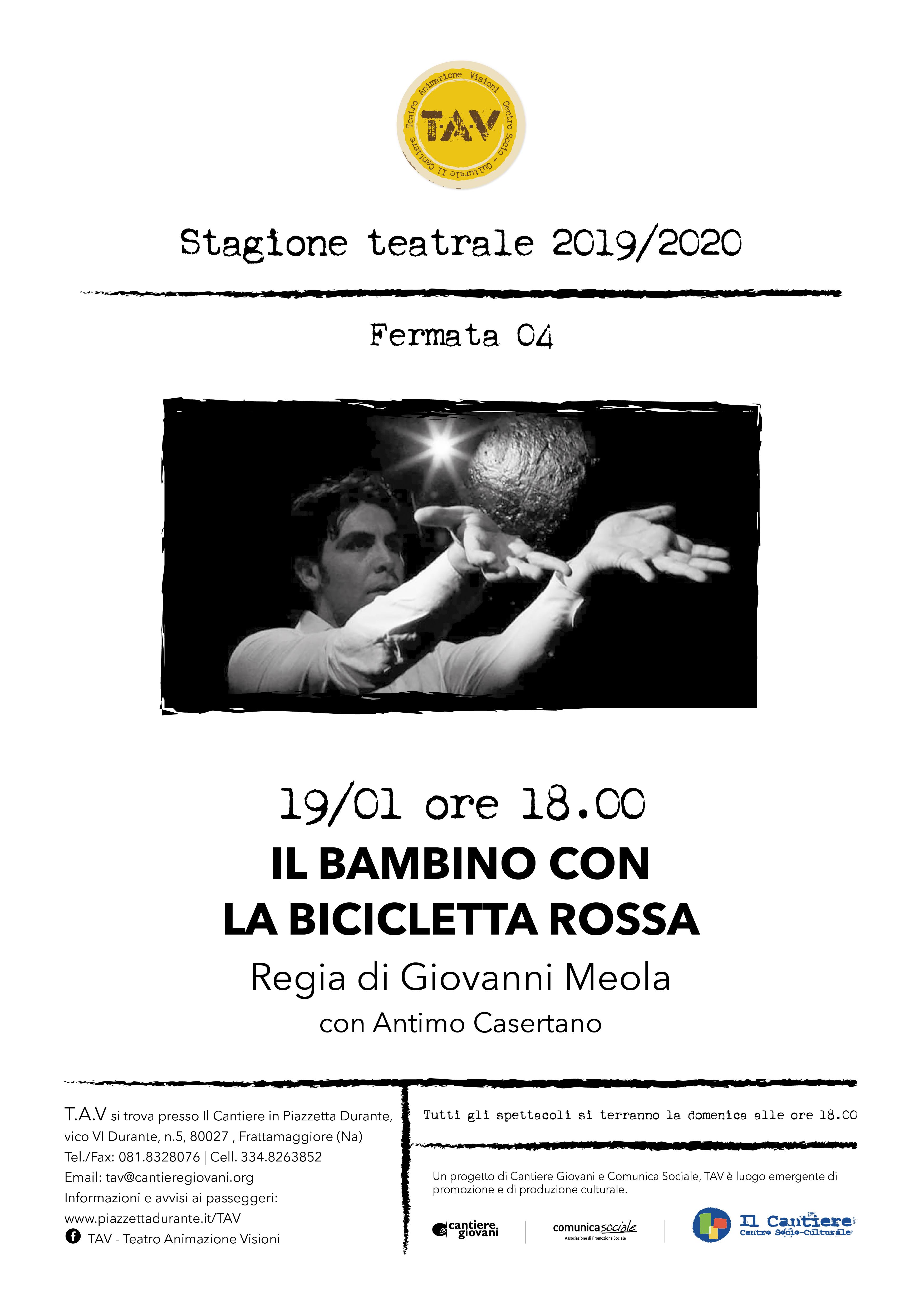 """""""Il BAMBINO con la BICICLETTA ROSSA"""" al TAV"""