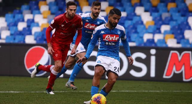 Coppa Italia, Napoli-Perugia 2-0: doppio Insigne su rigore e Ospina per la prima gioia al San Paolo di Gattuso