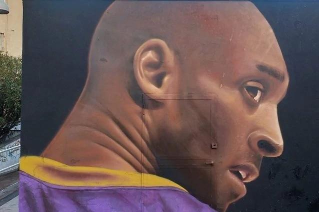 Napoli, Jorit dedica un murale a Kobe Bryant
