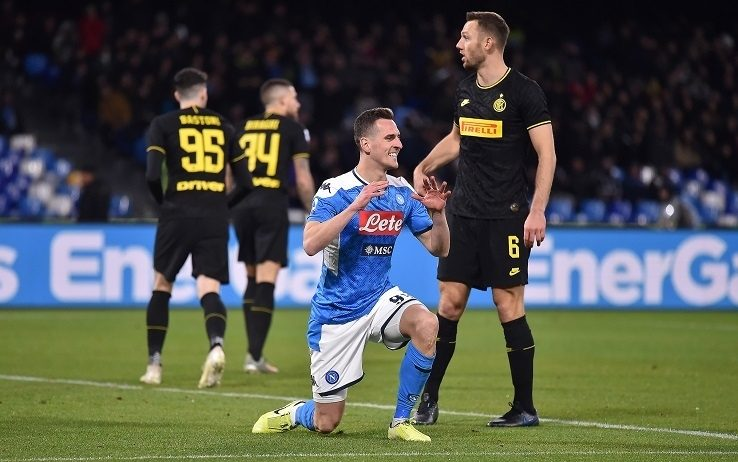 Verso Napoli-Inter: solo palestra per Milik