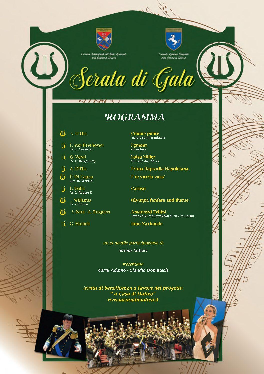 Venerdì 21 febbraio al Teatro Mediterraneo il concerto della Banda della Guardia di Finanza