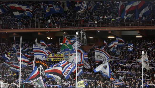 Sampdoria-Napoli, i cori razzisti costano solo 10mila euro ai blucerchiati