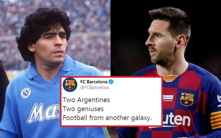 Napoli-Barcellona: riflettori sul San Paolo per l'arrivo di Messi nel tempio di Maradona
