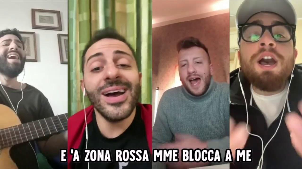 """""""Zona rossa"""", il classico della musica napoletana reinventato per esorcizzare la paura (VIDEO)"""