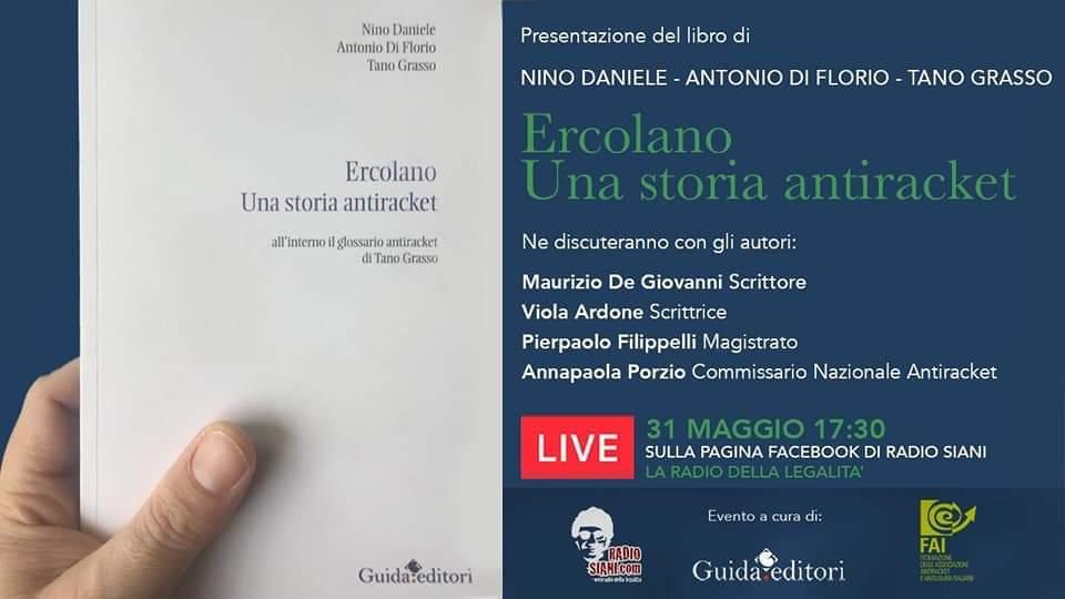 """Domenica 31 maggio la presentazione del libro """"Ercolano: Una storia antiracket"""""""