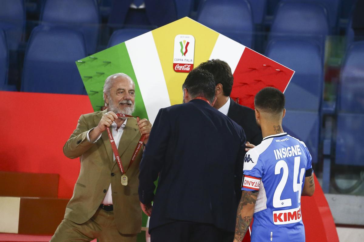 """Coppa Italia, De Laurentiis: """"Con Gattuso tutto è cambiato"""""""