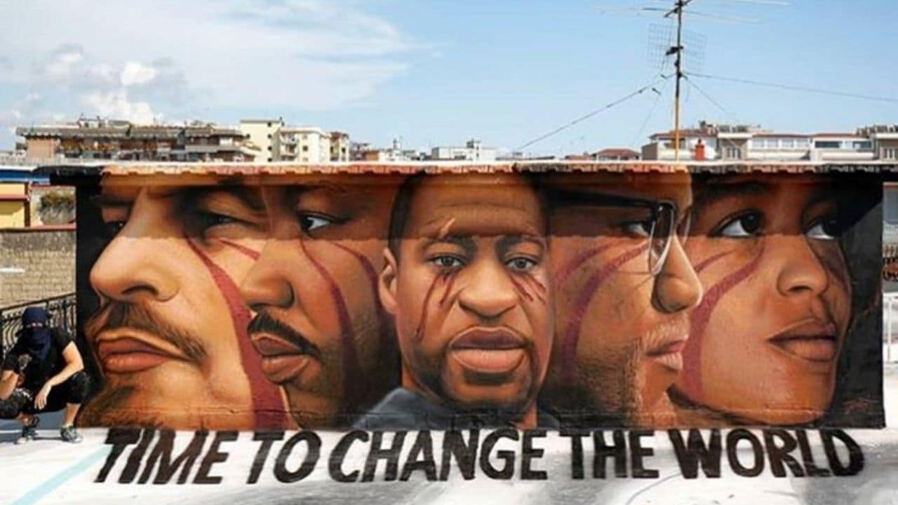 Minneapolis, a Napoli Jorit dedica un murale a George Floyd