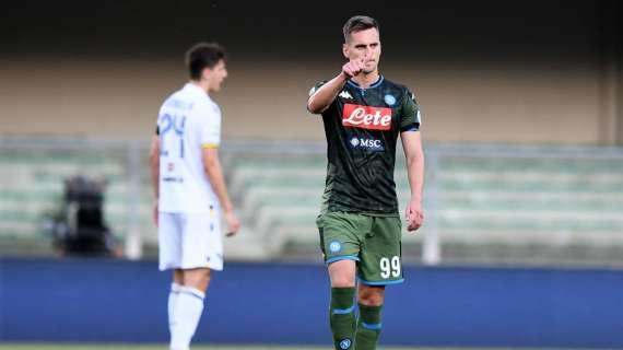 Calciomercato, il Napoli ha rifiutato un'offerta dell'Atletico per Milik