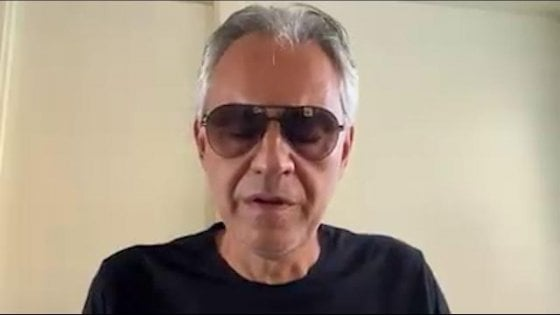 """Bocelli: """"Non volevo offendere chi è stato colpito dal Covid"""""""