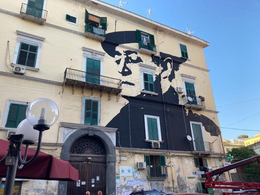 Napoli, nuovo murale dedicato a Totò nel Rione Sanità