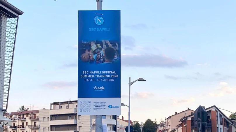 Napoli, boom di prenotazioni dei tifosi azzurri in Abruzzo
